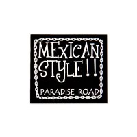 PARADISE ROAD MEXICAN STYLE Sticker Large