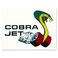 Hot Rod Nostalgic Sticker Cobra Jet Window Decal
