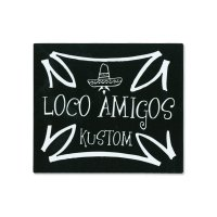 PARADISE ROAD LOCO AMIGOS Cross Sticker Large