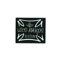 PARADISE ROAD LOCO AMIGOS Cross Sticker Small