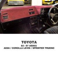 TOYOTA 83-87 AE86 Dashboard Covers