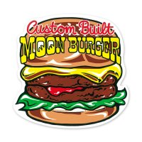 MOON Burger Sticker