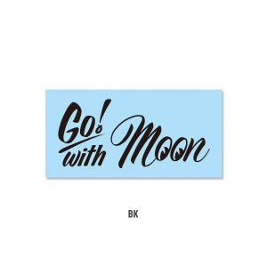 Photo4: Go with MOON Sticker