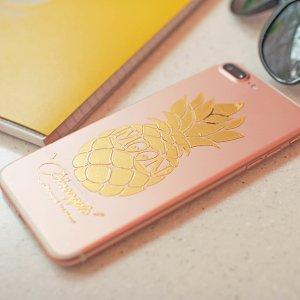 Photo3: Pineapple Sticker White (Script Style)