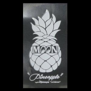 Photo2: Pineapple Sticker White (Script Style)