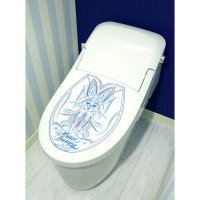 MOON Bunny Toilet Lid Sticker