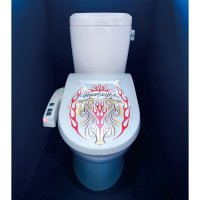 MOON Red Flames Toilet Lid Sticker