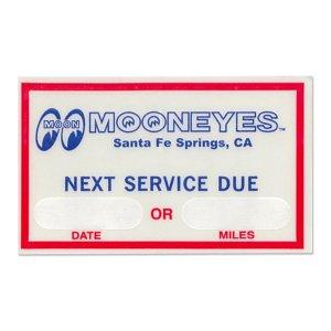 Photo1: MOON Next Service Due Sticker