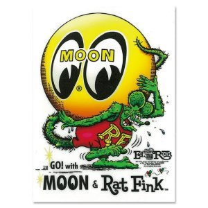 Photo2: Rat Fink x MOON Eyeball Sticker