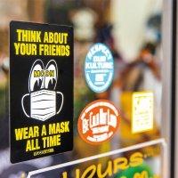 MOON Message Sticker Wear A Mask
