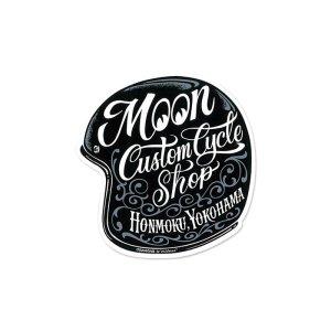 Photo2: MOON Custom Cycle Shop Motorcycle Helmet Sticker