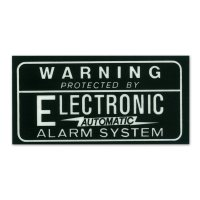 HOT ROD Sticker ALARM SYSTEM Decal Black