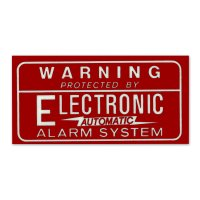 HOT ROD Sticker ALARM SYSTEM Decal Red