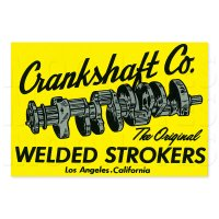 HOT ROD Sticker Crankshaft Co.