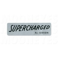 HOT ROD Sticker SUPERCHARGED BY JUDSON Black Lettering