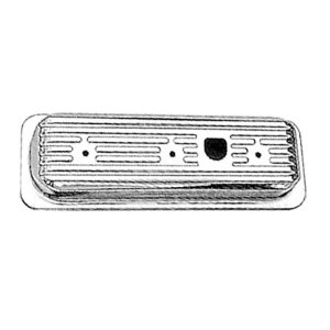 Photo1: Chrome Steel  Valve Cover CHV4.3LV6'85-'93Short