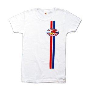 Photo1: Clay Smith Stars And Stripes White Ladies T-Shirt