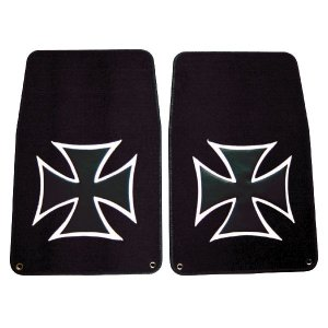 Photo1: Iron Cross Floor Mat Front Type