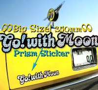 Go with MOON Prism Sticker