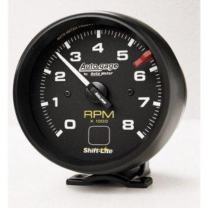 Photo1: Auto Gauge 8000RPM Tachometer  Cylinder for 4/6/8 w/Shift Light