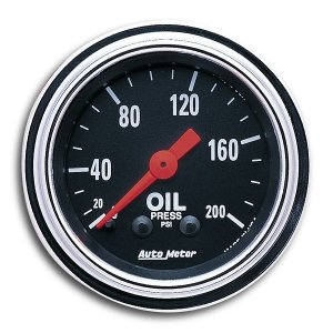 Photo1: Mechanical Traditional  Gauge Oil Pressure  (0-200psi)