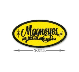 Photo1: MOONEYES Oval Logo Patch Small