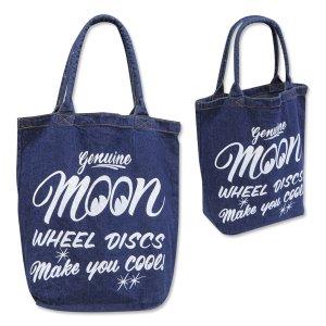 Photo3: MOON Wheel Discs Denim Tote Bag