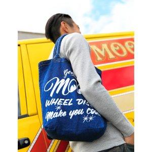 Photo1: MOON Wheel Discs Denim Tote Bag
