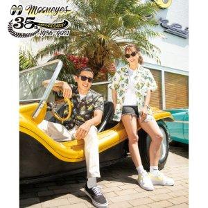 Photo1: MOONEYES 35th Anniv. Limited Aloha Shirt