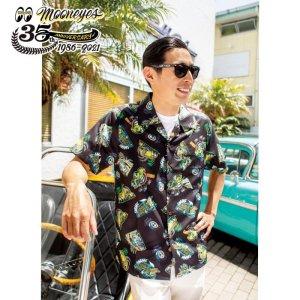 Photo2: MOONEYES 35th Anniv. Limited Aloha Shirt
