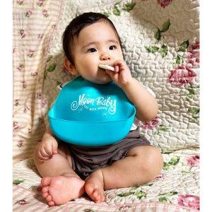 Photo1: MOON Baby Silicone Bib