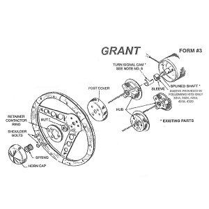 Photo2: Grant Steering wheel boss kit adapter  Parts Number GB3000 -