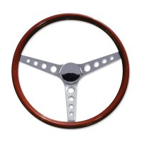 "15"" Wood Steering Wheel Round Hole"