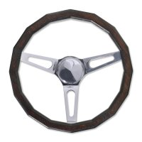 California Square Wood 16Square Steering Wheel