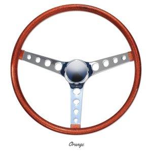 """Photo2: MOONEYES ORIGINAL California Metal Flake Finger Grip Steering Wheel 38cm (15"""")"""