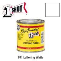 Lettering White 101 - 1 Shot Paint Lettering Enamels 237ml