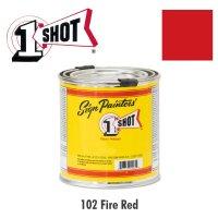 Fire Red 102  - 1 Shot Paint Lettering Enamels 237ml