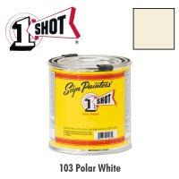 Polar White 103 - 1 Shot Paint Lettering Enamels 237ml