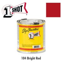 Bright Red 104 - 1 Shot Paint Lettering Enamels 237ml