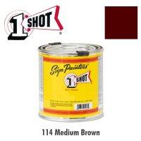 Medium Brown 114  - 1 Shot Paint Lettering Enamels 237ml