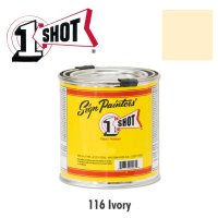 Ivory 116  - 1 Shot Paint Lettering Enamels 237ml
