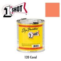 Coral 120  - 1 Shot Paint Lettering Enamels 237ml