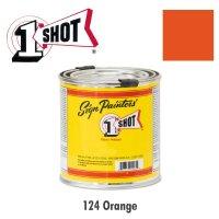 Orange 124   - 1 Shot Paint Lettering Enamels 237ml