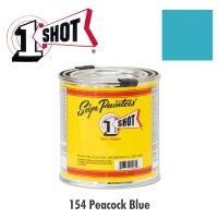 Peacock Blue 154 - 1 Shot Paint Lettering Enamels 237ml