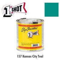 Kansas City Teal 157 - 1 Shot Paint Lettering Enamels 237ml