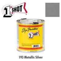 Metallic Silver 193  - 1 Shot Paint Lettering Enamels 237ml