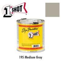 Medium Gray 195  - 1 Shot Paint Lettering Enamels 237ml