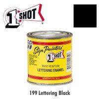 Lettering Black 199 - 1 Shot Paint Lettering Enamels 237ml