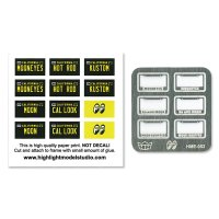 1/24 MOON License Plate Frame Set