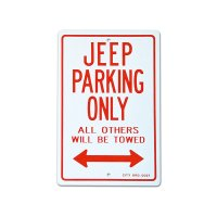 "Parking Signboard ""JEEP"""